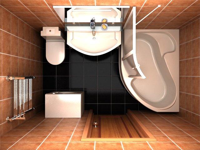 Дизайн ванной комнаты в 2 кв.м