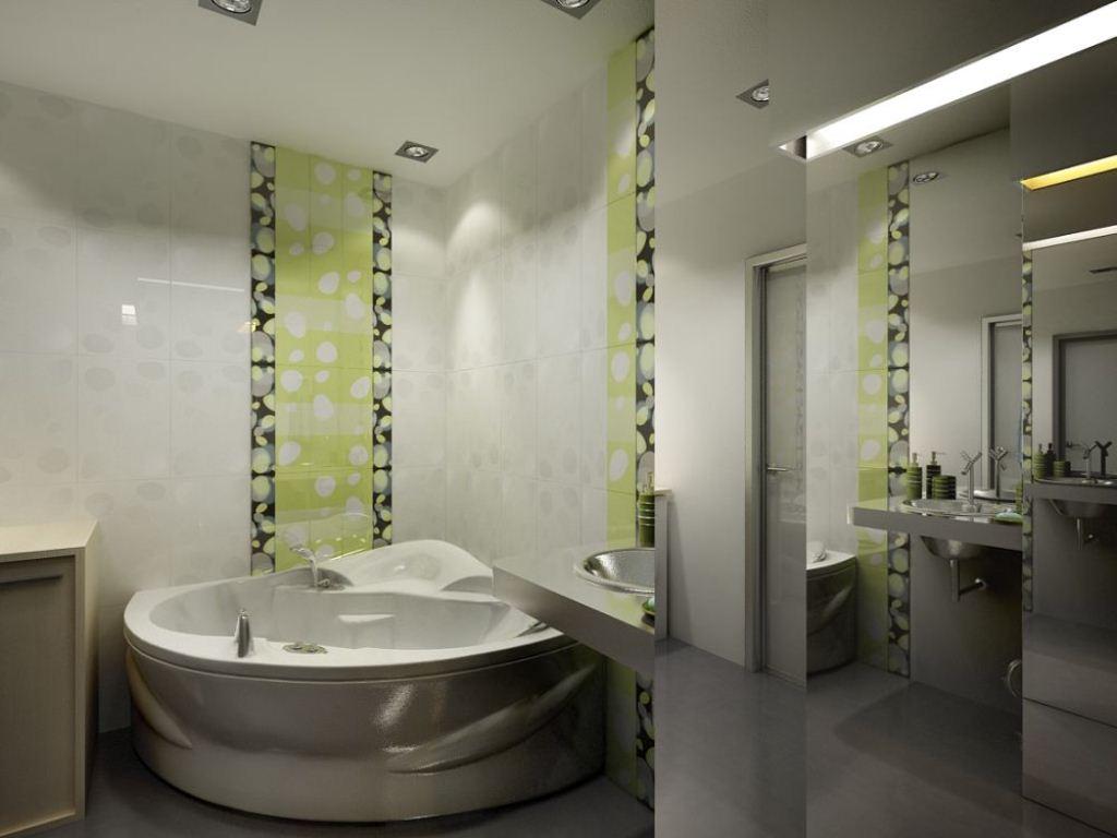 Интерьер ванной комнаты и туалета.